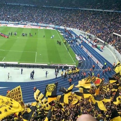 Bundesliga fodboldrejse: Hertha Berlin - Dortmund. BVB Fans