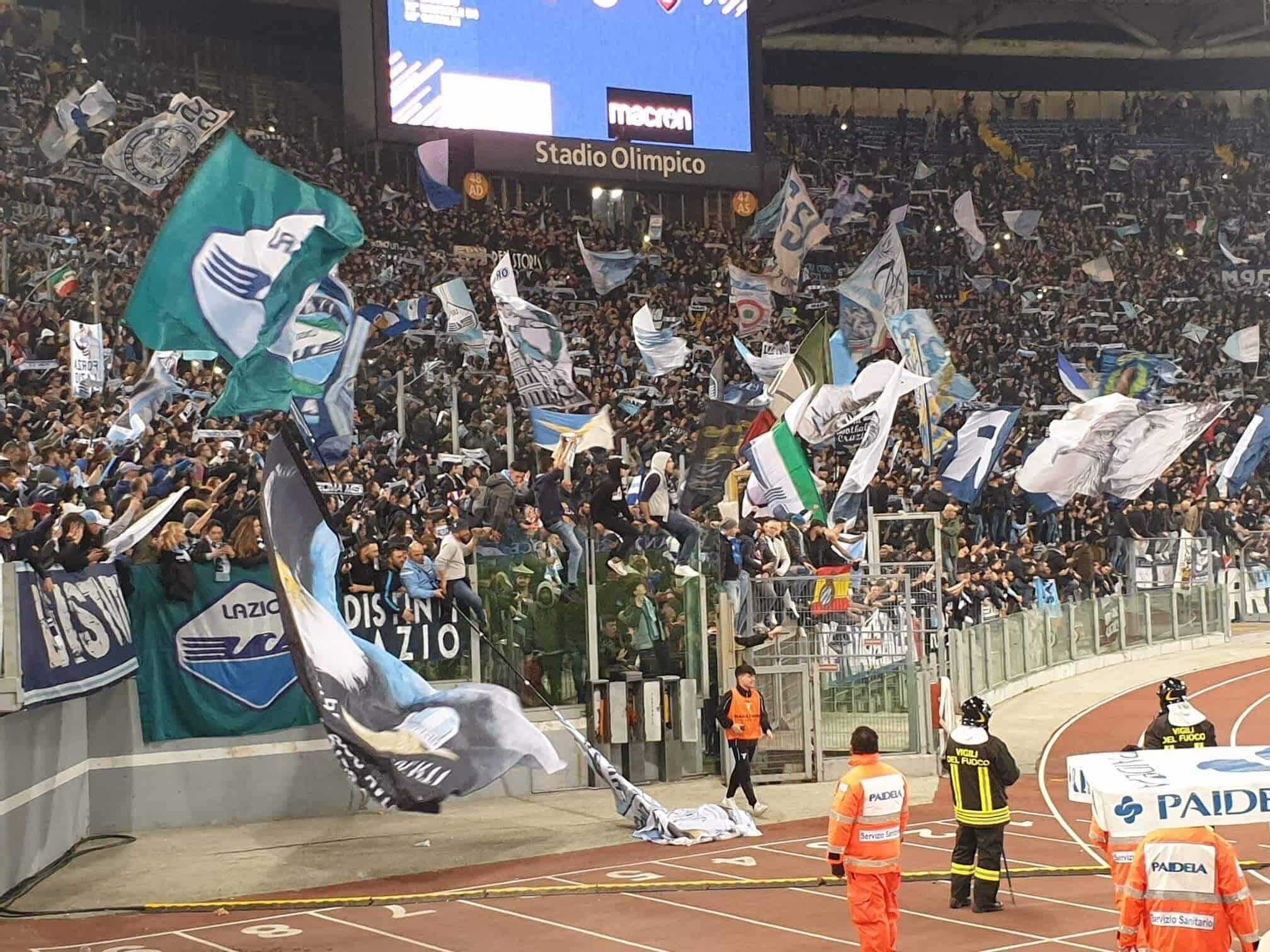 Fodboldrejse: Lazio - Roma (Lazio fans)