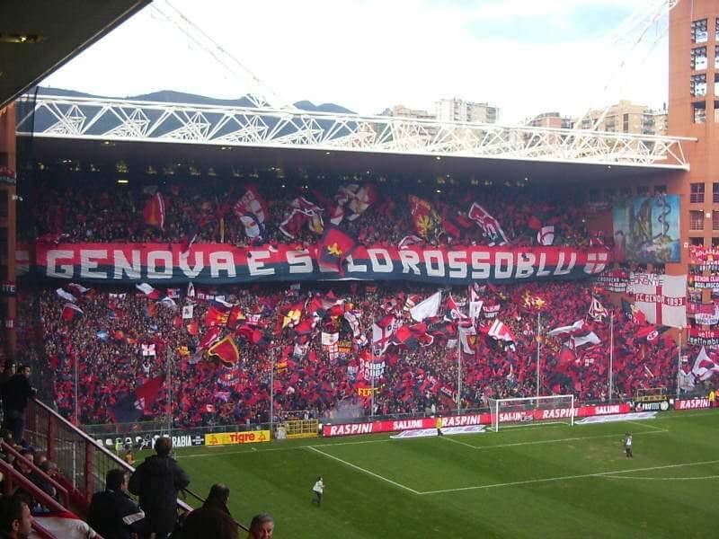 Derby della Lanterne. Genoa fans.