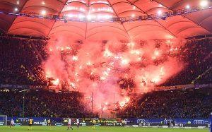Dynamo Dresden fans på Volksparkstadion