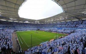 Volksparkstadion kulisse: Hamburg SV tifo