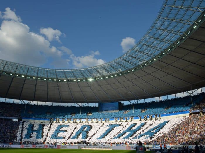 Fodboldrejse Berlin: Hertha Berlin Tifo Olympia Stadion