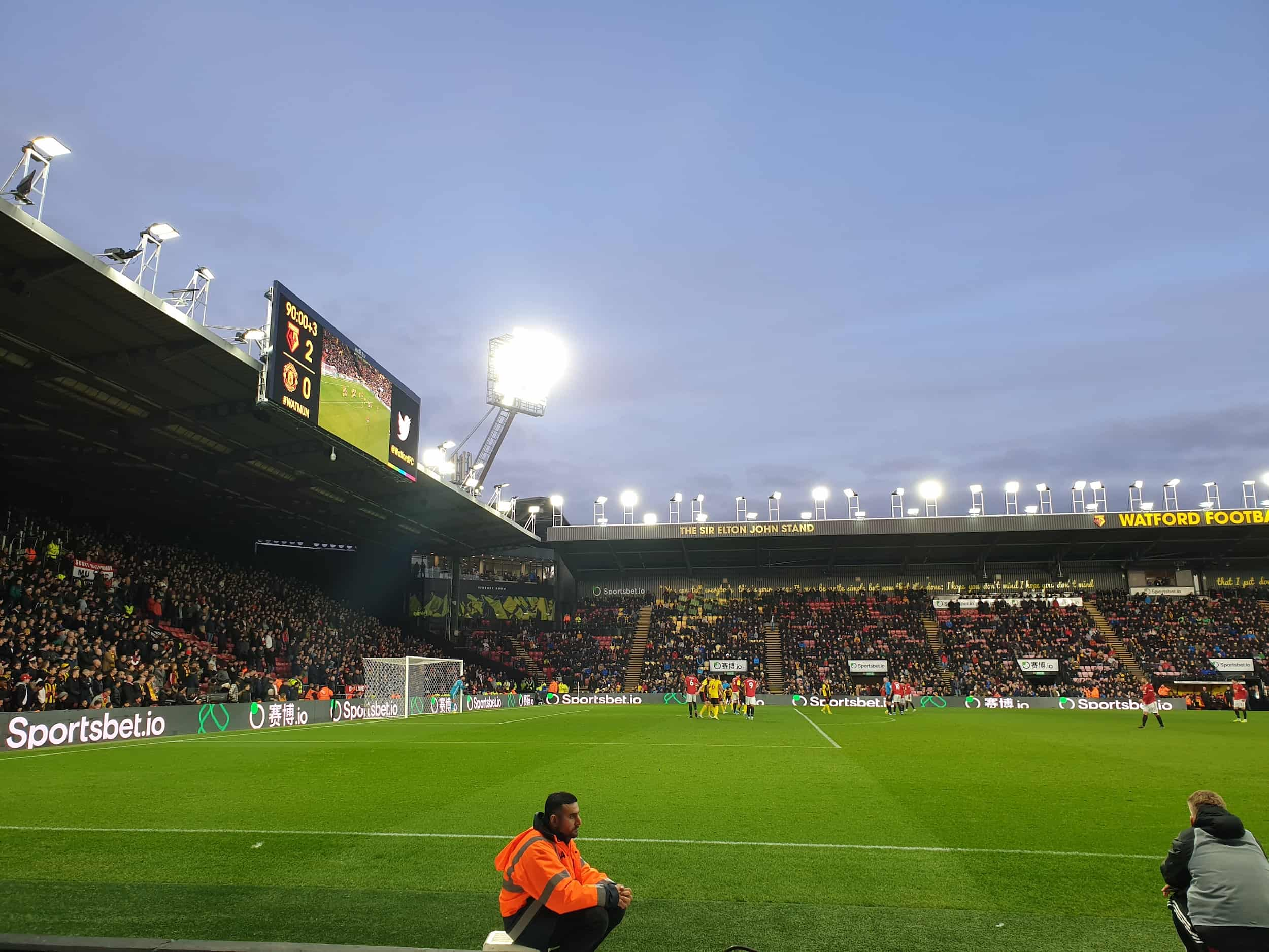 Premier League Fodbold i London: Watford - Manchester United december 2019