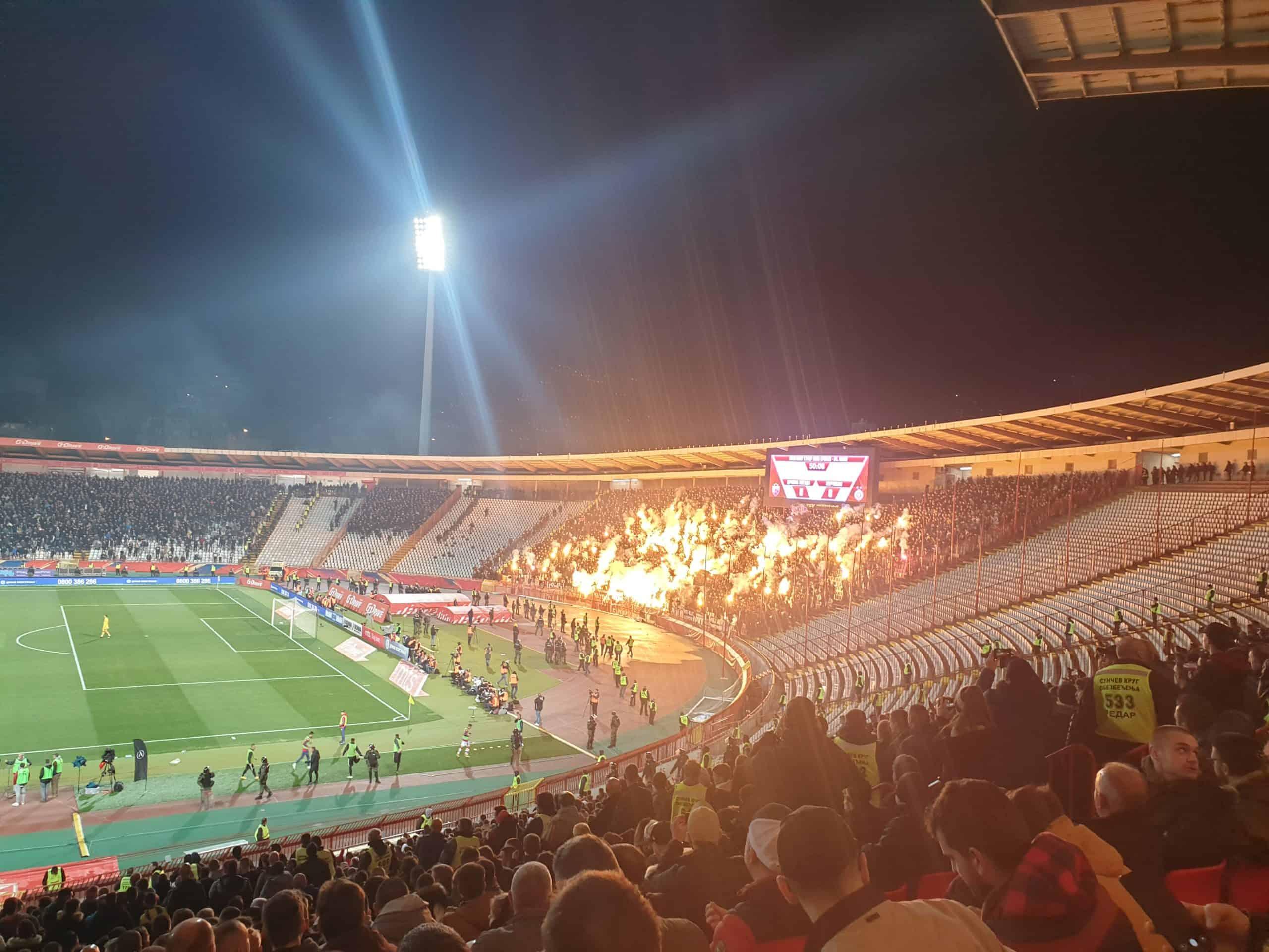 Fodboldrejse til Beograd: FK Partizan Beograd fans til The Eternal Derby