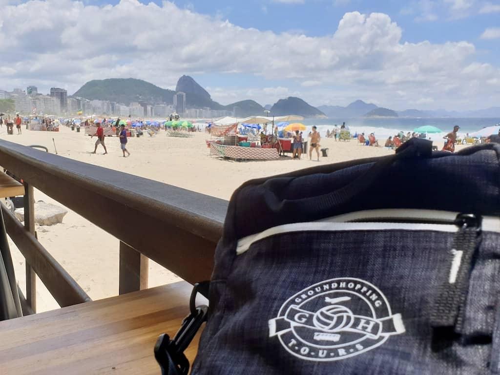 Fodboldrejse til Brasilien: Ved Copacabana