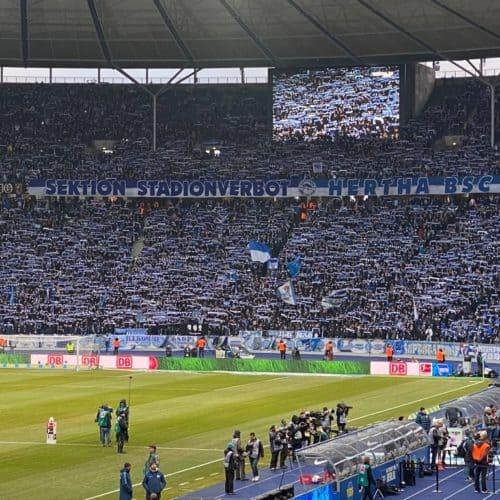 Olympia Stadion: Hertha Berlin fans